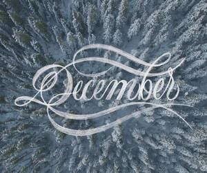 december, handlettering, and lettering image