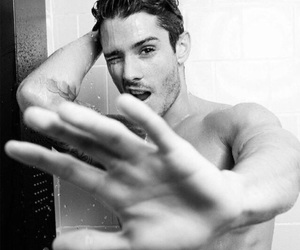 black and white, hot guy, and shirtless image