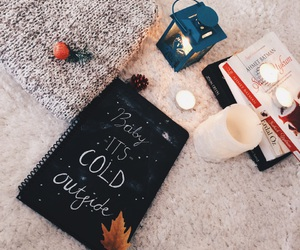 light, books, and candles image