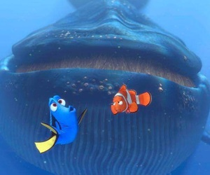 nemo, whale, and finding nemo image