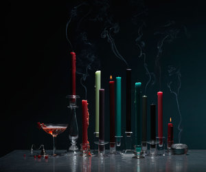black, candles, and christmas image