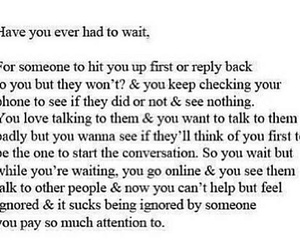 love, ignored, and wait image
