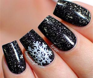 nails, winter, and black image