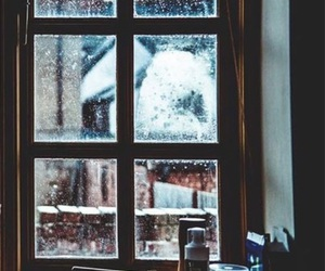 winter, window, and snow image
