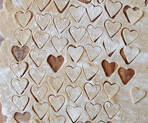 hearts, love, and food image
