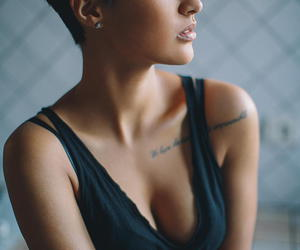 tattoo, sexy, and short hair image