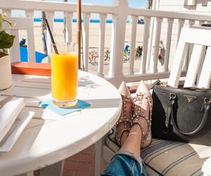 beach, los angeles, and orange juice image