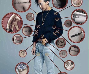 g-dragon, gd, and tattoo image