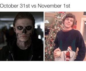 christmas, Halloween, and evan peters image