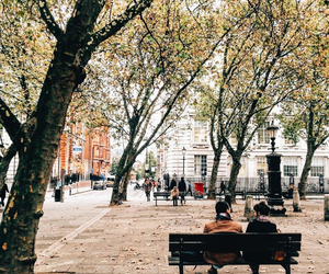 city, autumn, and couple image