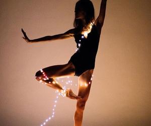 dance, christmas lights, and photography image