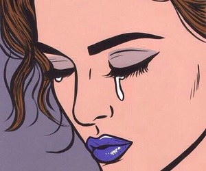 cry, pop art, and sad image