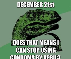 april, funny, and dinosaur image