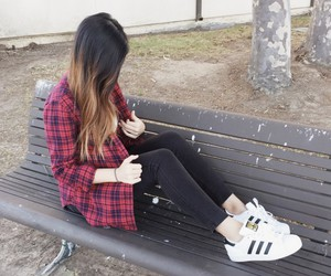 fall, flannel, and ootd image