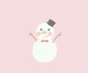 snow, snowman, and cute image