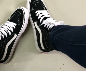 vans, black, and hipster image