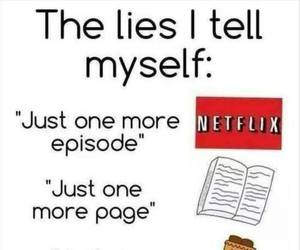 book, netflix, and lies image