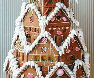 christmas, house, and food image