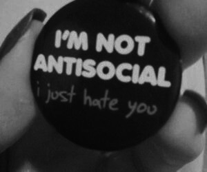 antisocial, hate, and grunge image