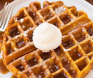 waffles, food, and pumpkin image