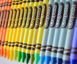 photography, colorful, and crayons image
