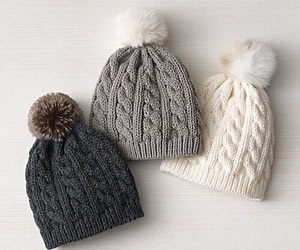 winter, hat, and white image