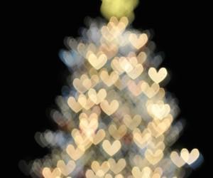 christmas, tree, and heart image