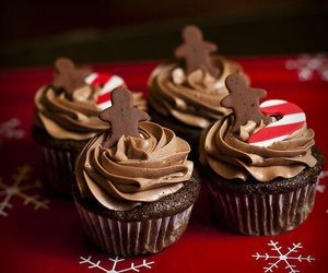 cupcake, christmas, and chocolate image