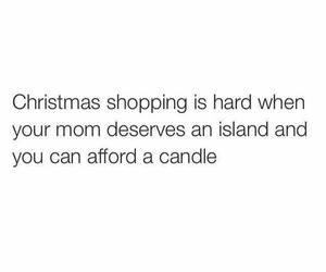 christmas, mom, and shopping image