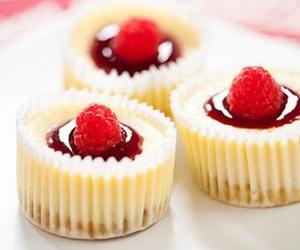 cheesecake, food, and raspberry image