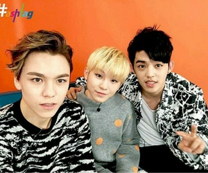 woozi, Seventeen, and vernon image
