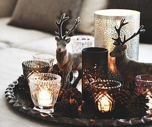 christmas, candle, and winter image