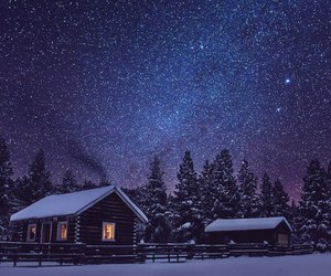 stars, winter, and night image