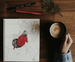 coffee, art, and cozy image