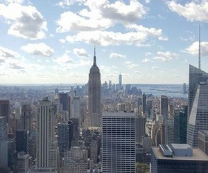 city, top of the rock, and empire state image