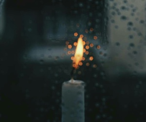 candle, indie, and rain image