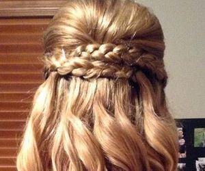 hair, braid, and curls image