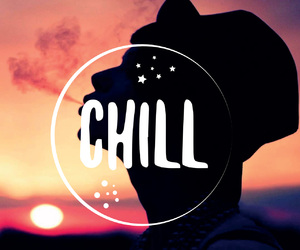 chill, relax, and dude image