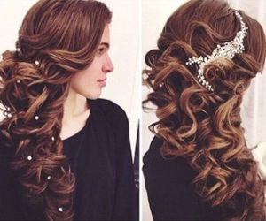 braid, clip, and curls image