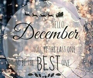 december, winter, and christmas image