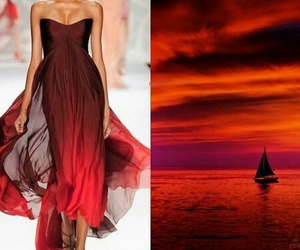 design, red sky, and ellie saab image