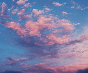 blue, clouds, and sunset image