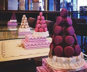 sweet, macaroons, and eat image