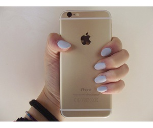 gold, iphone6, and nails image