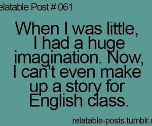 imagination, true, and english image