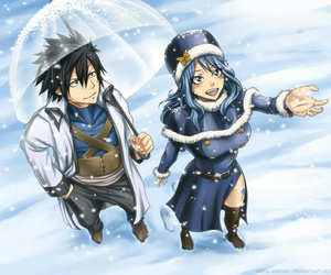 gruvia, juvia, and fairy tail image