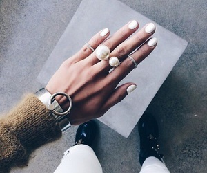 fashion, nails, and white image