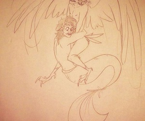 louis tomlinson, merman harpy, and larry stylinson image