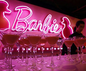 barbie, pink, and drink image