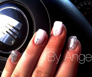 art, glitter, and nail image